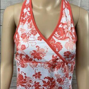 Rainbeau blouse size medium  orange and white